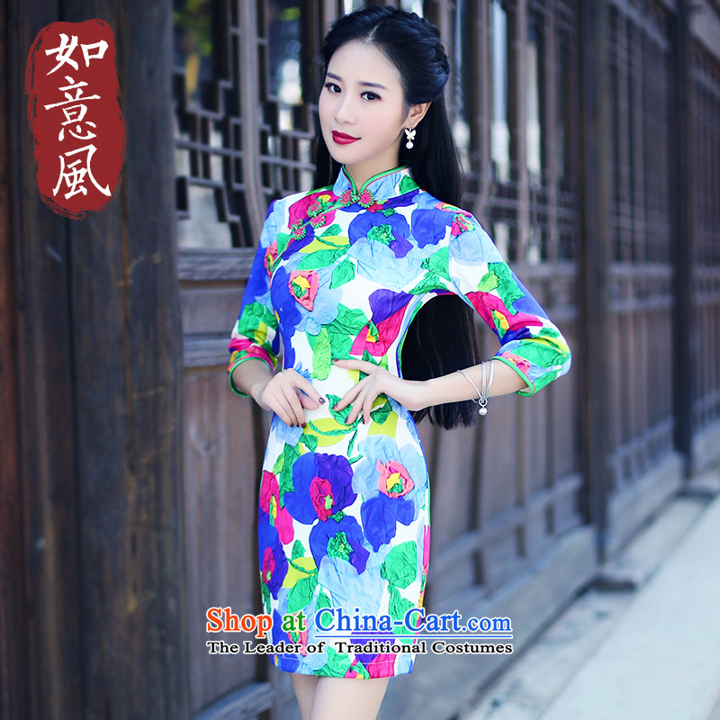 After a day of wind improved retro air layer qipao qipao spring 2015 new stylish in cuff dresses60176017 suit?S