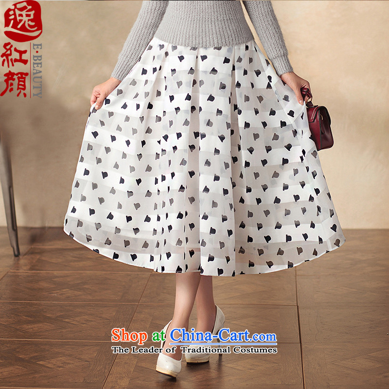 A Pinwheel Without Wind Yat Van Gogh in Yat long skirt retro qipao body of ethnic arts video New Sau San thin body long skirt white L