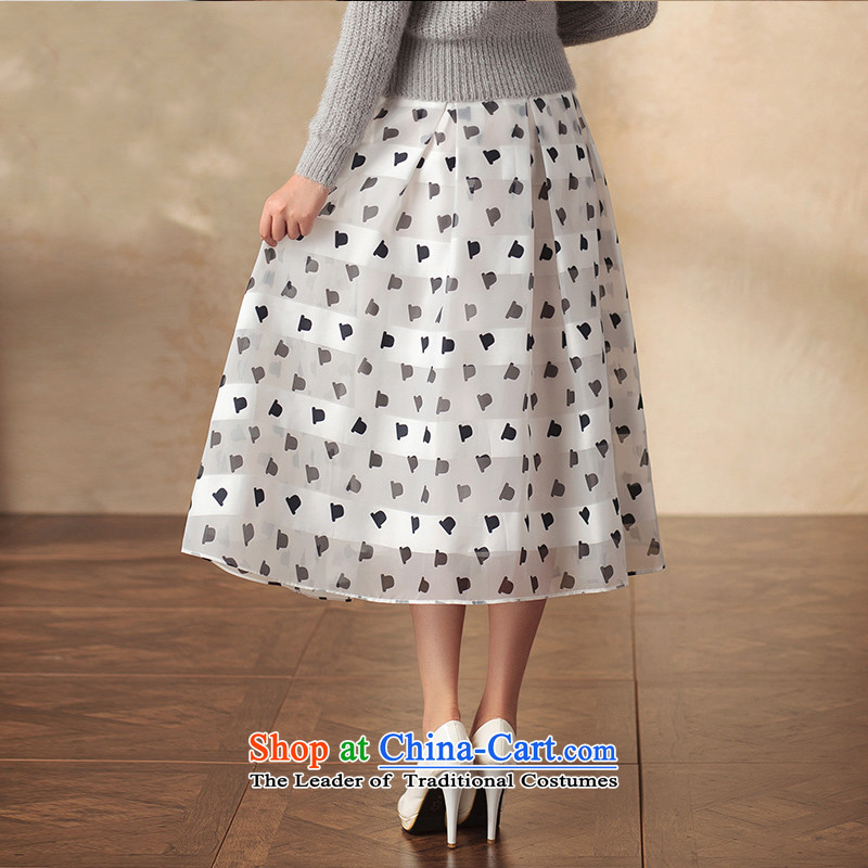 A Pinwheel Without Wind Yat Van Gogh in Yat long skirt retro qipao body of ethnic arts video New Sau San thin body long skirt white L, Yat Lady , , , shopping on the Internet