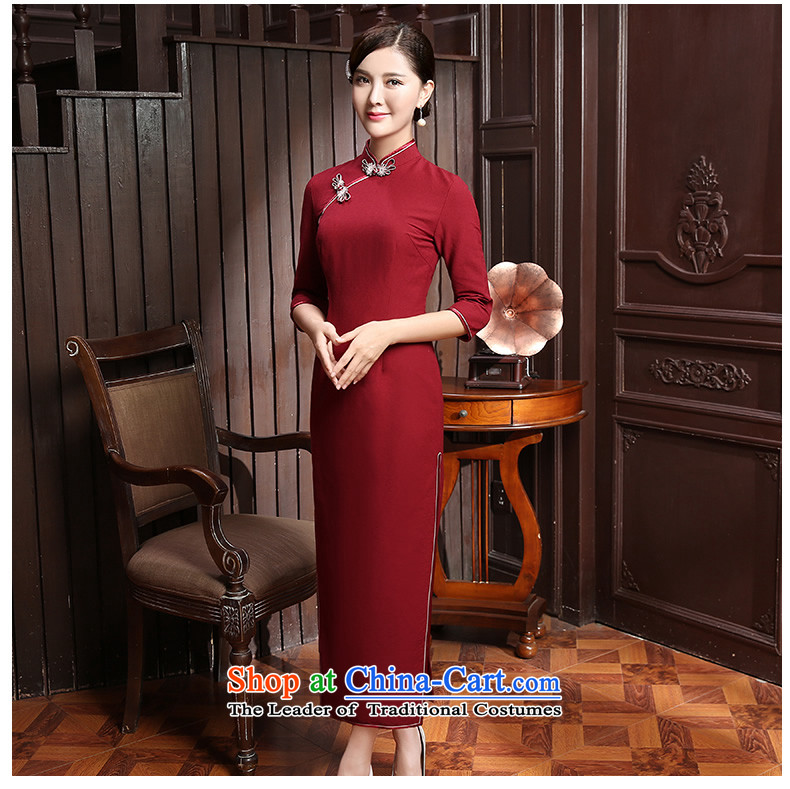 [Sau Kwun Tong] It is autumn 2015 installed new lighter fashion, long-sleeved qipao and two-tone optional QZ5802 BLUE聽XL Photo, prices, brand platters! The elections are supplied in the national character of distribution, so action, buy now enjoy more preferential! As soon as possible.