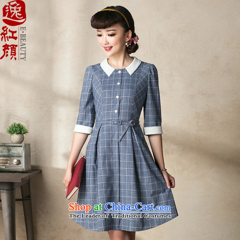 A Pinwheel Without Wind overnight Ngan 7 Yat-sleeved dresses autumn 2015 new retro national autumn wind load cheongsam dress Sau San ink gray 3-day pre-sale燬