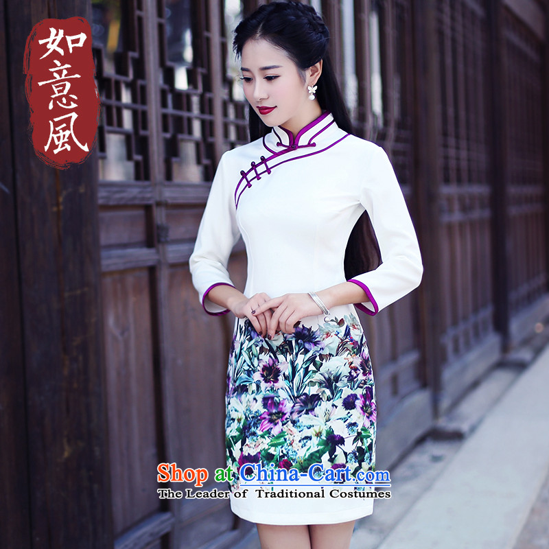After the�fall of 2015, the wind loading new Stylish retro in improved cuff cheongsam dress short of Qipao 6,072 returnees 6,072 returnees suit�S