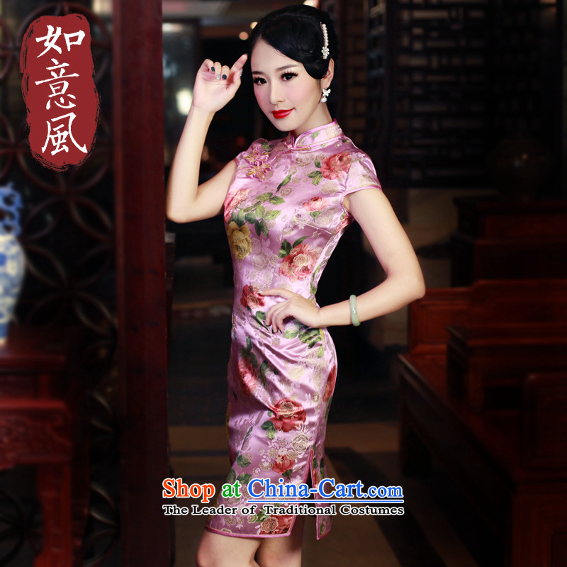 After a new 2015 qipao wind load improved cheongsam dress in spring and autumn high section dress suit artoon artoon qipao retro燣
