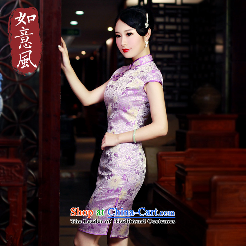 After a new wind 2015 Women's Short, retro style qipao improved day-to-Sau San dresses 5,636 5,636 Suit?M