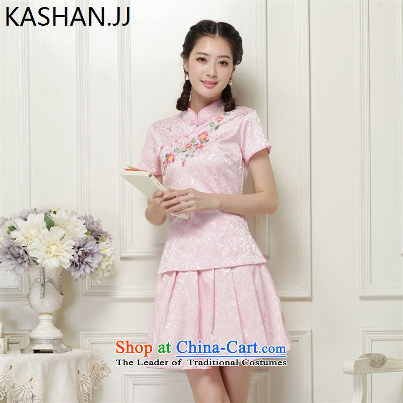 The reason for the stylish improvements Susan card cheongsam Chinese Ethnic Wind no need to come to grips are two kits short) packaged qipao White�XXL