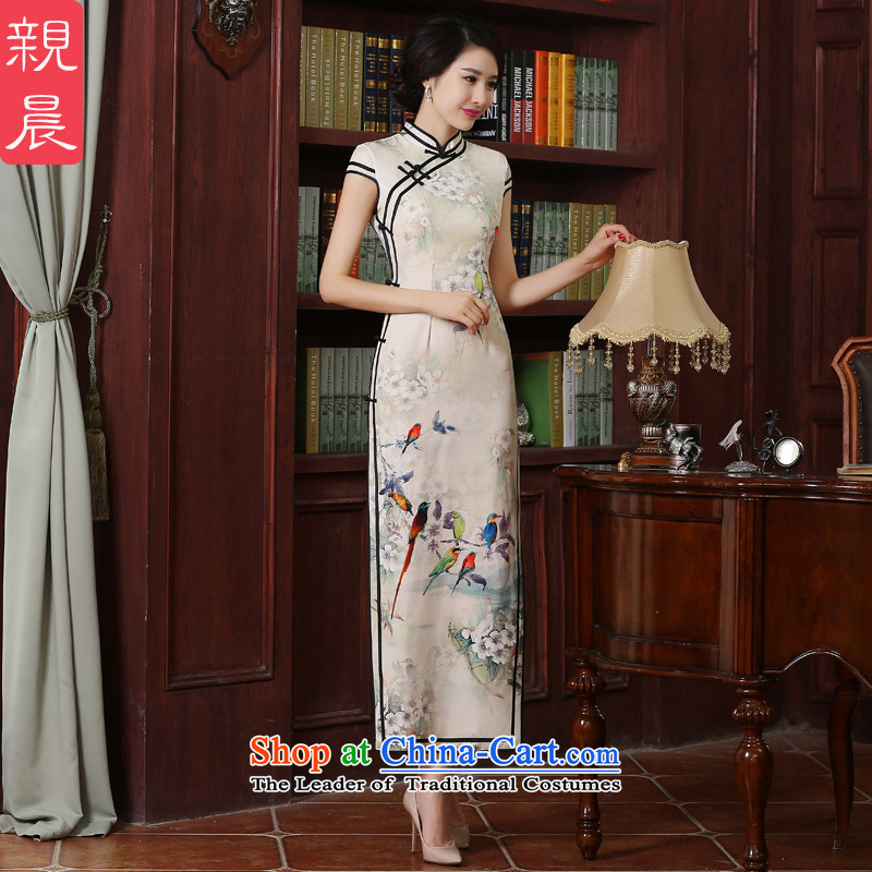 The pro-am new cheongsam dress long summer 2015 Autumn Chinese Antique Sau San improvements Ms. cheongsam dress long燣