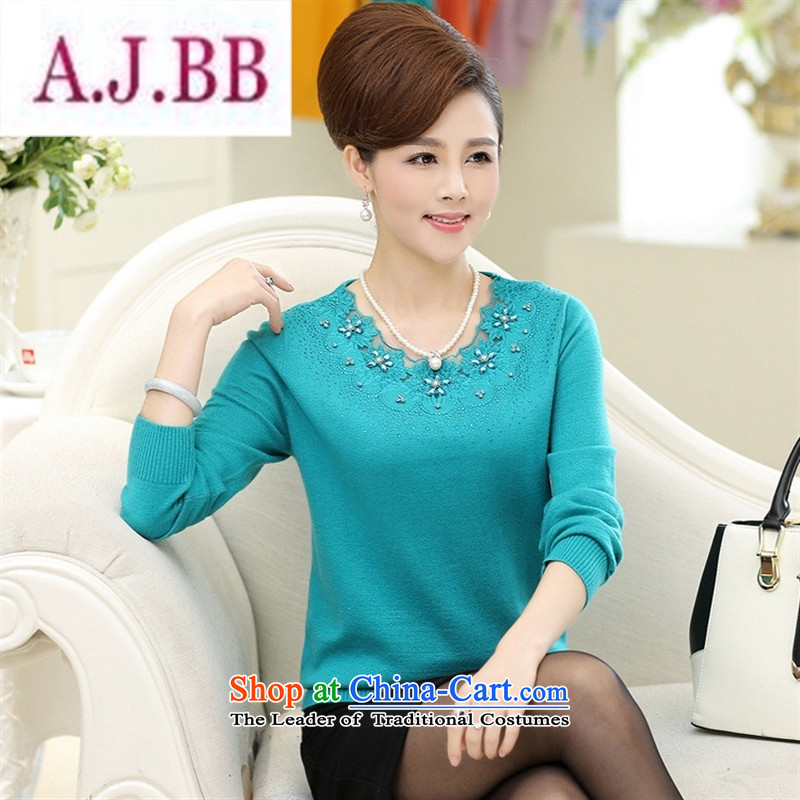 Ya-ting and fashion boutiques autumn and winter new women's Shirt ironing Korean drill knitting sweater in forming the largest number of elderly mother replacing Woolen Sweater Knit and color聽120