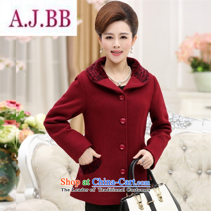 Ya-ting and fashion boutiques in New Older Women Fall_Winter Collections gross large jacket? replacing older persons long-sleeved mother thick clothes and color燲XL