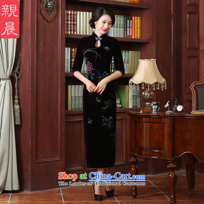 Wedding wedding dress upscale Kim scouring pads in mother qipao older long skirt the summer and autumn of 2015 the new long?4XL