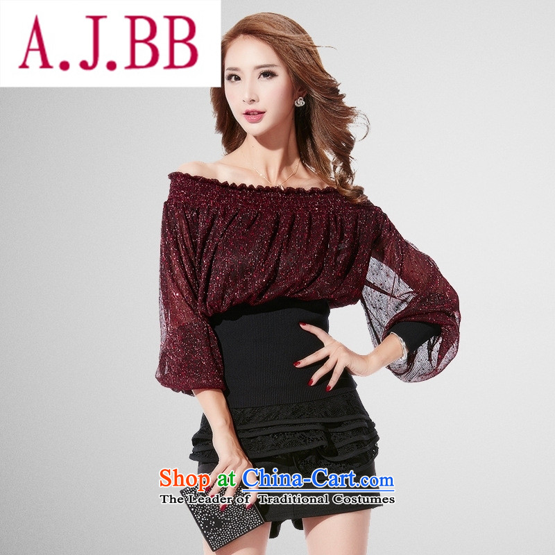 Ya-ting and fashion boutiques 2,015 Yuan Qiu new sense of the reformer fluoroscopy lace dresses Korean Knitting Sau San package and dresses silver�M
