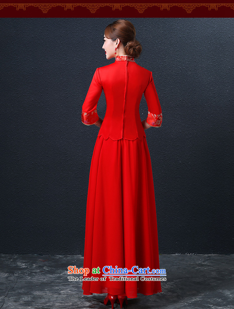 Hillo XILUOSHA) Lisa (qipao skirt bows services marriage long Chinese style wedding dresses dress bride 2015 new wedding dress red red L picture, prices, brand platters! The elections are supplied in the national character of distribution, so action, buy now enjoy more preferential! As soon as possible.