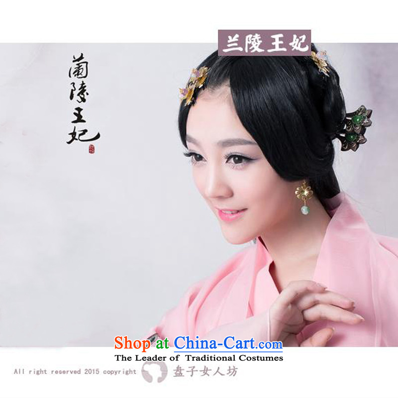 Time the new disk 2015 Syrian children whose square Lanling Princess Pink Han-Princess floor clothing/sub-theme photo album ancient clothing cherry Blowing Snow headdress and wigs are code floor for 160-175cm