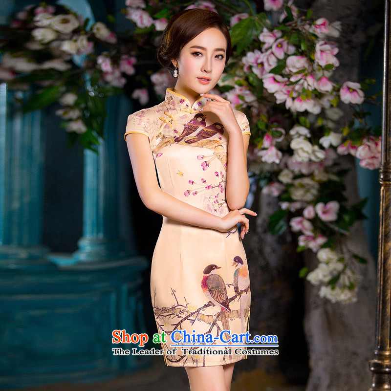 Time the?new 2015 Syria cheongsam dress stylish boardroom executives figure improved cheongsam dress with stylish Sau San large autumn code picture color?S