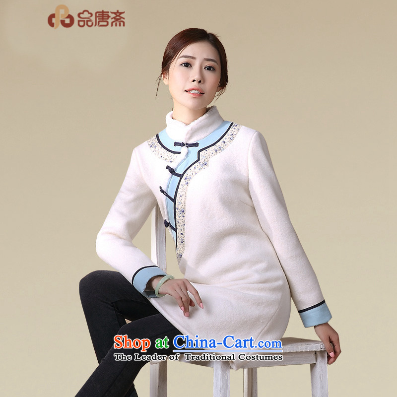 No. of Ramadan 2015 New Tang winter clothing China wind long-sleeved Chinese tea service Han-improved picture color jacket coat qipao�M