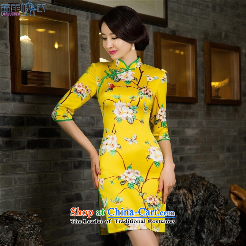 The fall of Qipao 7 low-power's improvement of cuff cheongsam dress cheongsam dress�030_ double_ M