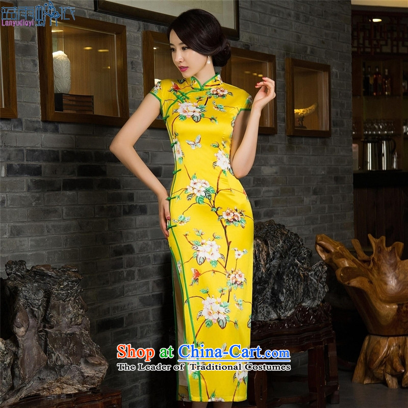 The autumn long qipao sleeveless collar high on's cheongsam dress?assistance 12 027 L