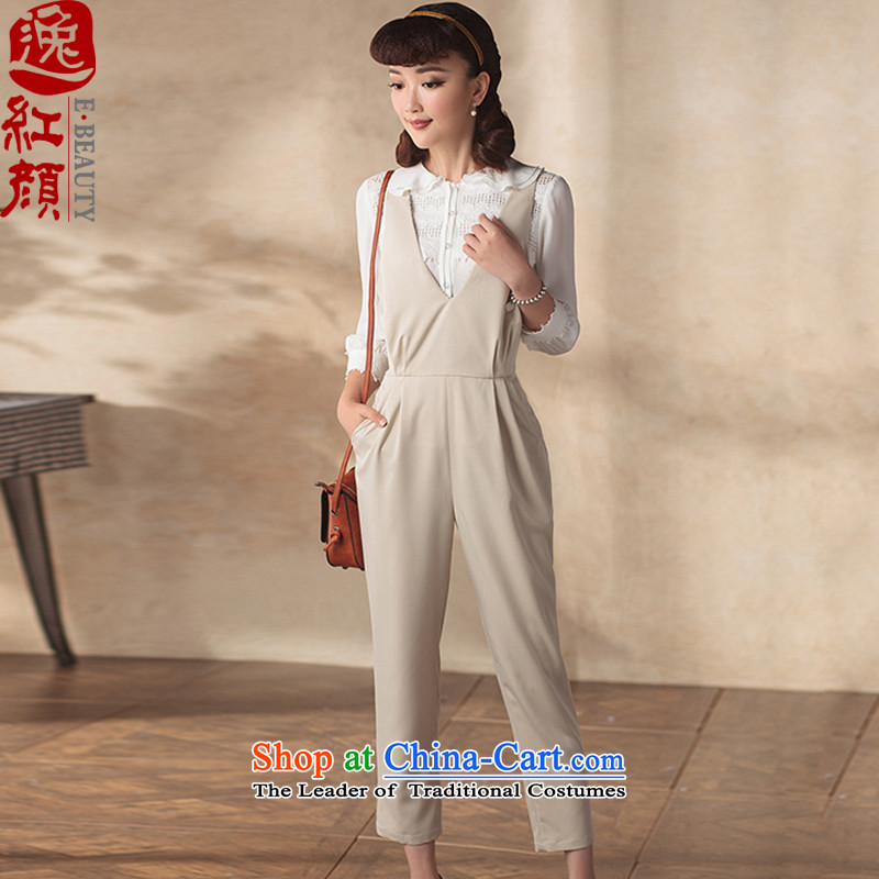A Pinwheel Without Wind ching chiu yi 2015 new autumn replacing ladies pants retro improved national wind Sau San 9 dresses trousers and cream L