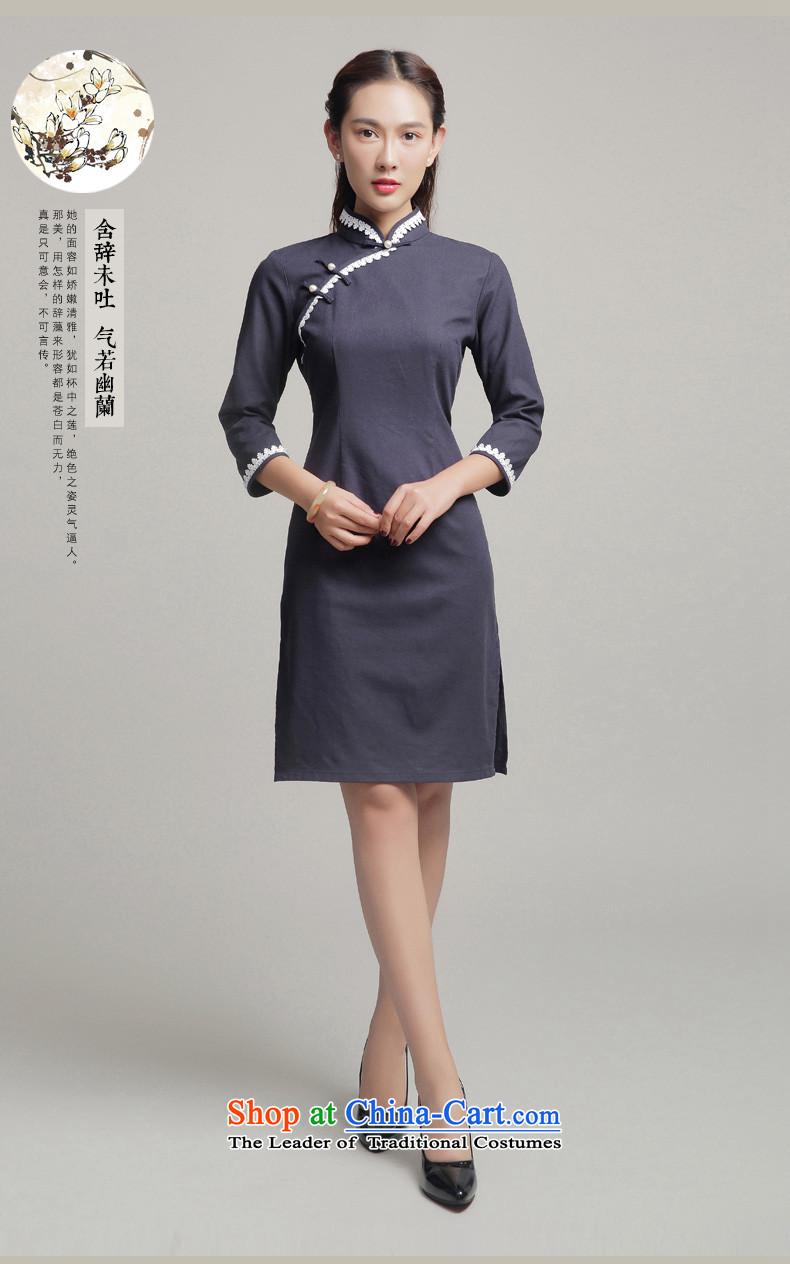 b67b84c578b Bong-migratory 7475 Autumn 2015 new qipao cotton linen cheongsam dress  daily fashion