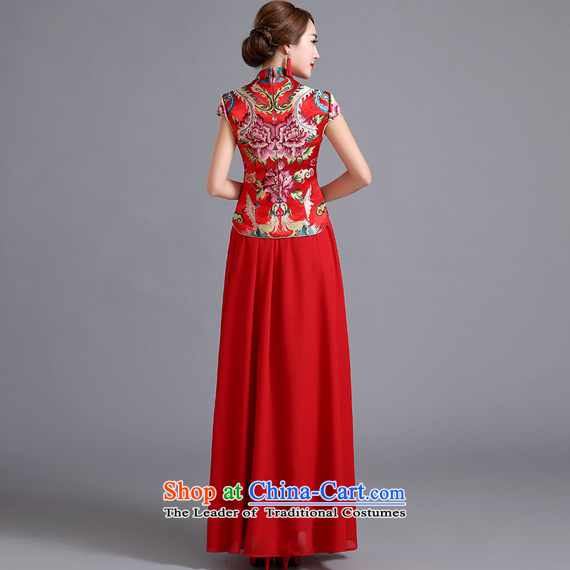 Toasting champagne dress uniform marriage qipao autumn 2015 cheongsam dress new stylish retro improvement of the Sau San red qipao female red can be made plus $30 does not return, Yi Sang Love , , , shopping on the Internet