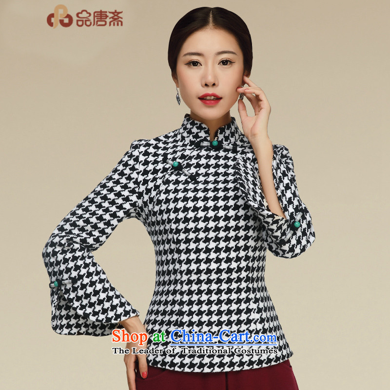 No. of Ramadan 2015 Autumn Load Tang new improved women's clothes Tang long-sleeved shirt map color?M