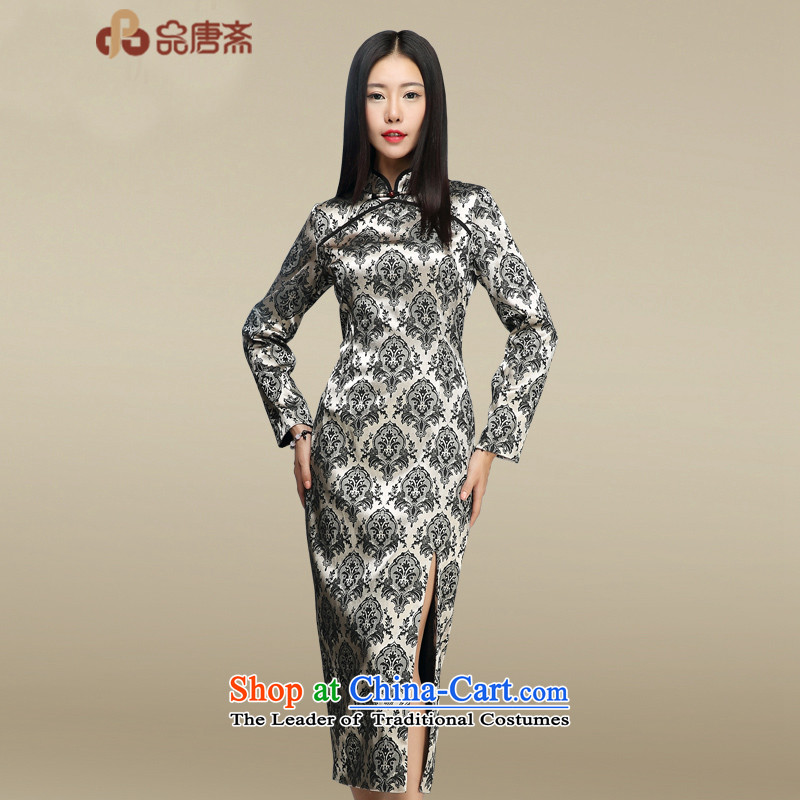No. Tang Ramadan cheongsam dress燼utumn 2015 new products of ethnic women retro map color燤