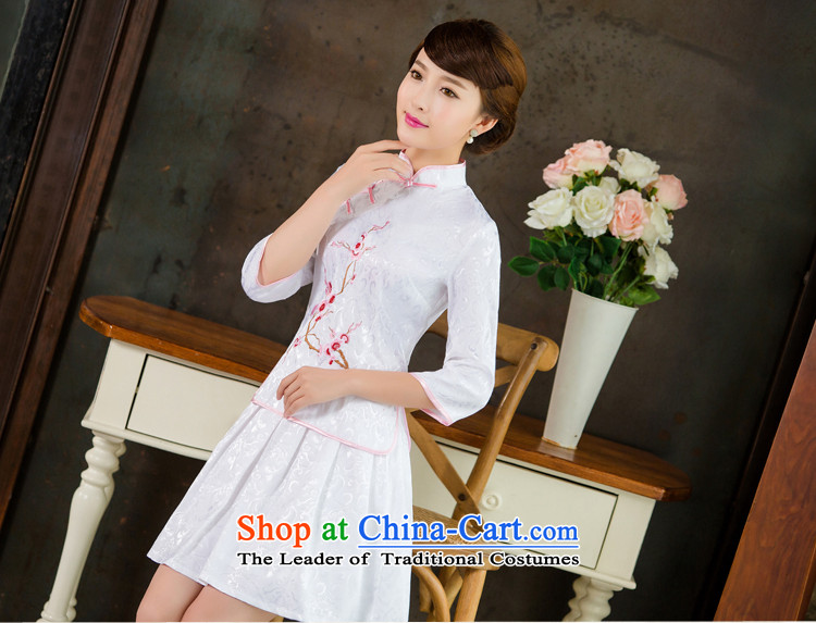 In the United States 2015 spring, summer, autumn and Tang dynasty new women's improved daily cheongsam dress retro look stylish two Kit 1125 White XL Photo, prices, brand platters! The elections are supplied in the national character of distribution, so action, buy now enjoy more preferential! As soon as possible.