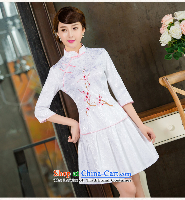 In the United States聽2015 spring, summer, autumn and Tang dynasty new women's improved daily cheongsam dress retro look stylish two Kit聽1125聽White聽XL Photo, prices, brand platters! The elections are supplied in the national character of distribution, so action, buy now enjoy more preferential! As soon as possible.