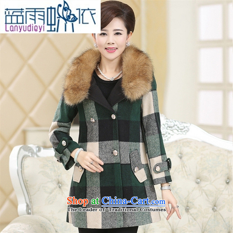 Ya-ting shop in autumn and winter of older women's gross? jacket for the works on the Nagymaros stylish winter clothing with thick large mother in long coats card its燲XL