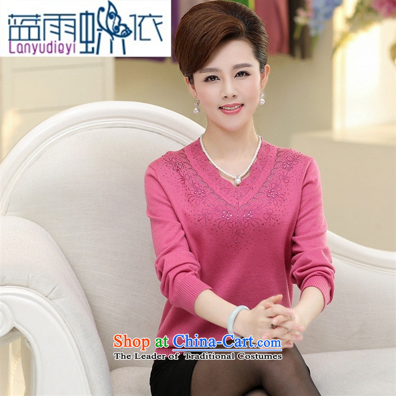 Ya-ting shops fall to the new liberal larger female thick mother thick grandma knitted shirts wool sweater girl and forming the shirt color�0