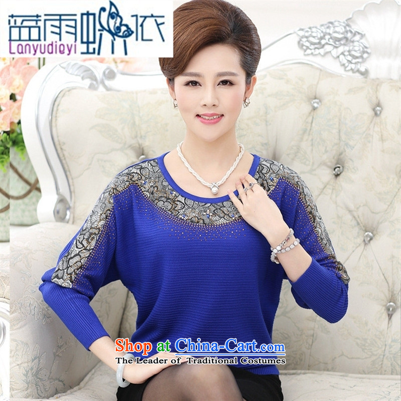Shop 2015, Ya-ting of older women fall inside large stylish long-sleeved T-shirts mother middle-aged women bat sleeves Knitted Shirt Red�0