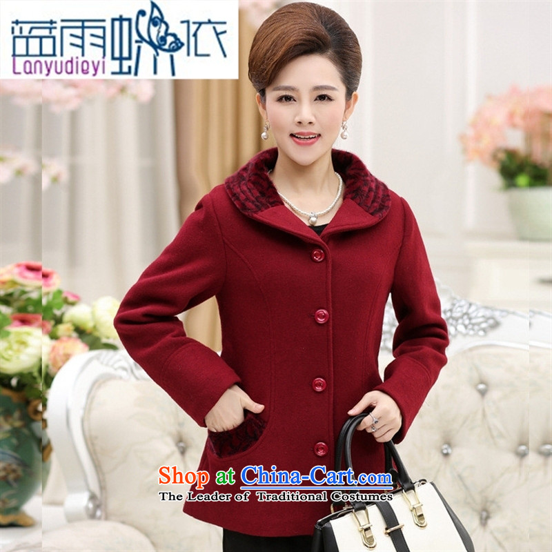 Ya-ting shop New Elderly Women Fall_Winter Collections gross large jacket? replacing older persons long-sleeved mother thick clothes and color燲XXL