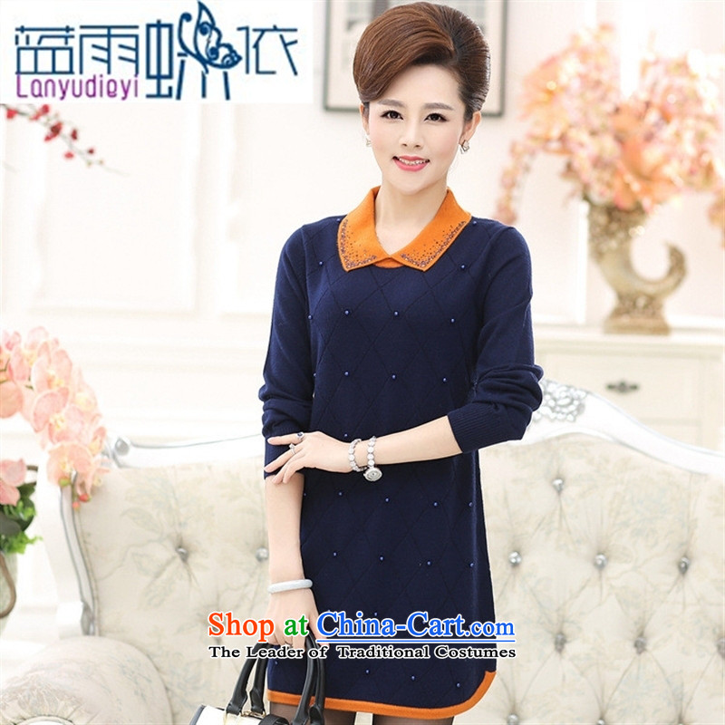 Ya-ting shop in older women for Winter Sweater middle-aged moms with skirt in long long-sleeved dolls, forming the basis for Knitted Shirt Yellow?115