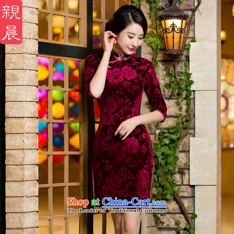 Wedding In mother Kim scouring pads qipao older upscale short of autumn dresses wedding dress code in the short-sleeved_燬