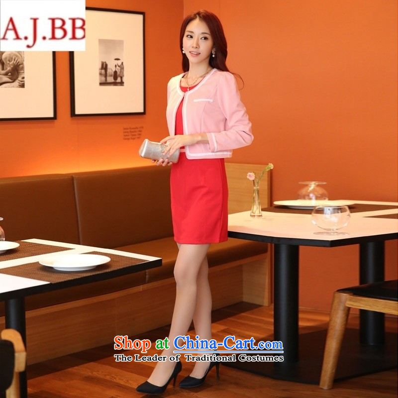 Orange Tysan _2015 Korea long-sleeved Pullover Sau San video thin two kits dresses thick sister xl dress nursing kit shirt Wong燣