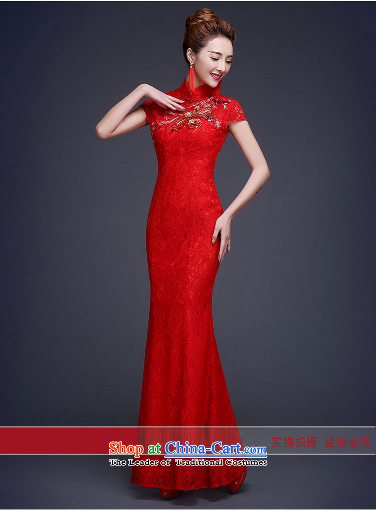 However, the spring and autumn wedding dresses bride services 2015 New Chinese wedding dress red Sau San crowsfoot long improved retro style red聽M picture, prices, brand platters! The elections are supplied in the national character of distribution, so action, buy now enjoy more preferential! As soon as possible.
