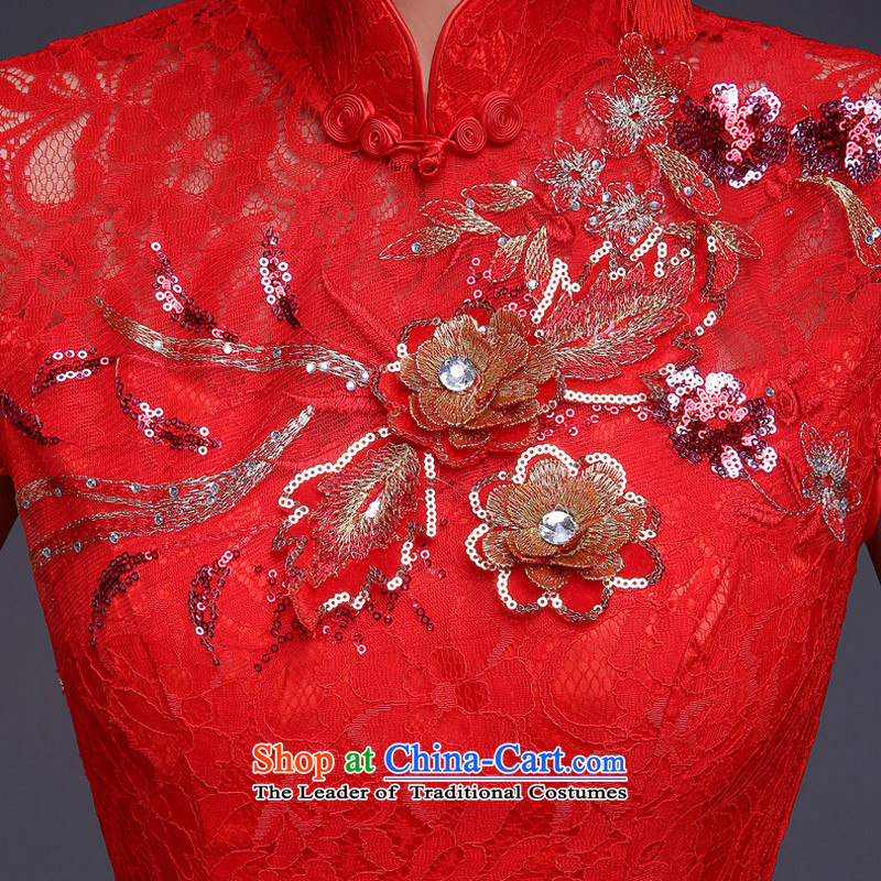 However, the spring and autumn wedding dresses bride services 2015 New Chinese wedding dress red Sau San crowsfoot long retro style red聽M, improved time Syrian shopping on the Internet has been pressed.