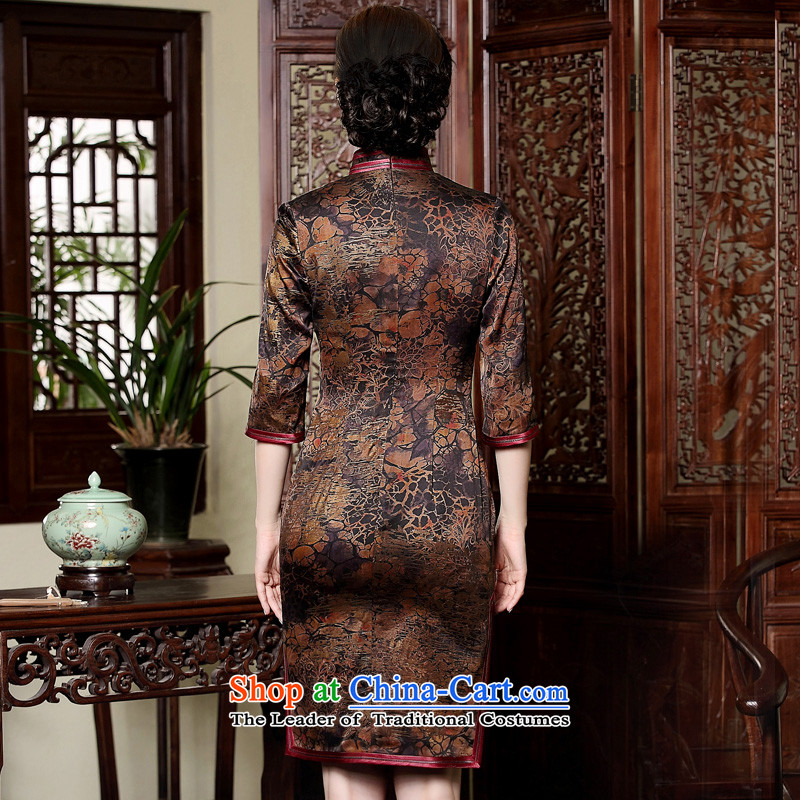 The fall of the seal) Ms. cuff cheongsam dress retro-cloud yarn silk short, manually upgrading the skirt picture color聽XXXL, seal decreased by , , , shopping on the Internet