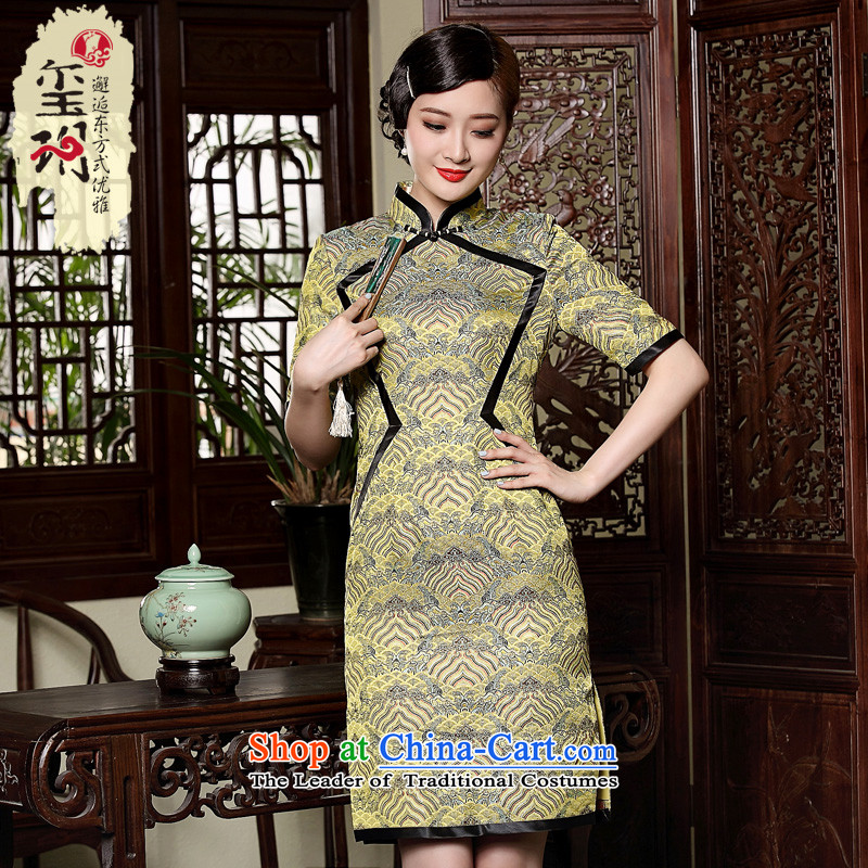 Seal of the original designer retro retro improved qipao palace elegance of ethnic women's dresses picture color L