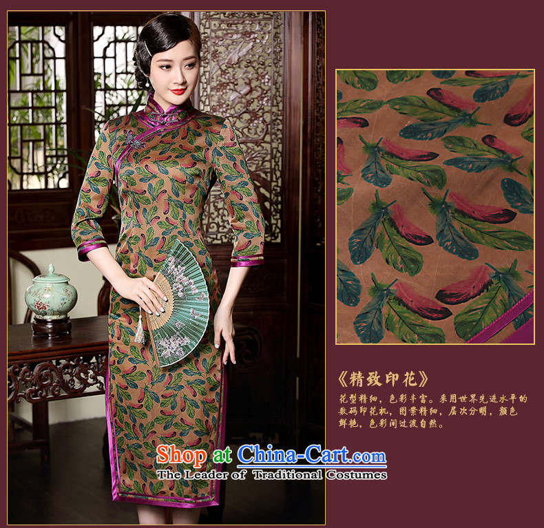 The Seal of birds Yu fall long incense cloud yarn long qipao daily silk 7 cuff dress dresses picture color聽pictures, prices, XL brand platters! The elections are supplied in the national character of distribution, so action, buy now enjoy more preferential! As soon as possible.