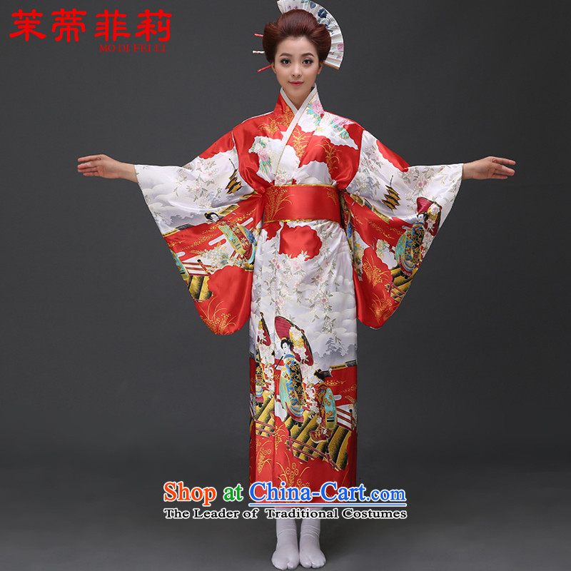Energy Tifi Li 2015 New Japanese national will cherry blossoms is Japanese kimono female red S