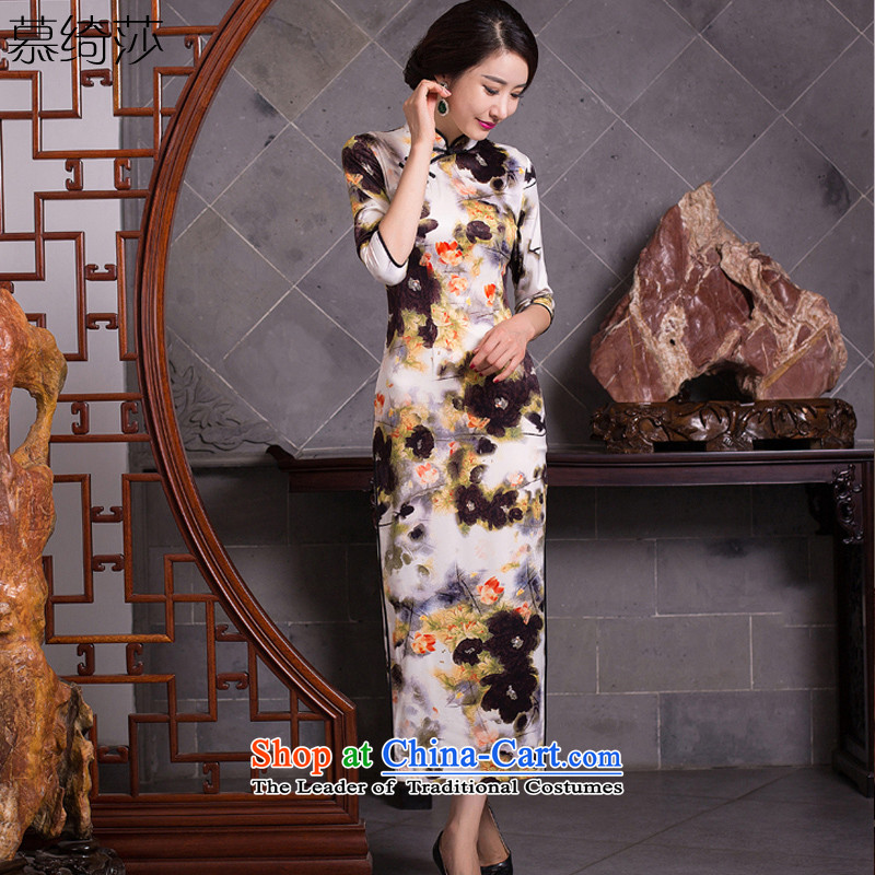 The shopkeeper of cross-sa long cheongsam dress new retro improved cheongsam dress in long cheongsam dress�Q 277 Ms.�picture color�S