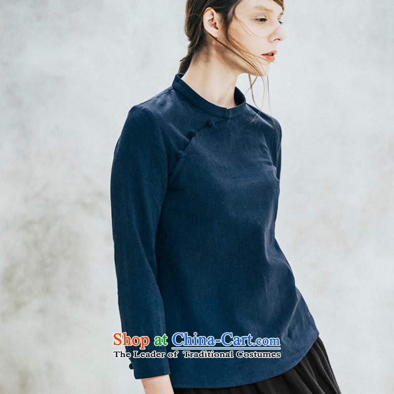 Hee-Snapshot Dragon original ethnic arts cotton Linen Dress Shirt clip is pressed up retro improved cheongsam dress of 9聽M, white-hee autumn cuff snapshot (XZAOLONG lung) , , , shopping on the Internet