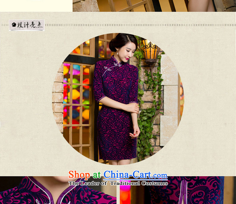 Wedding wedding dress mother Kim scouring pads qipao high load. In older cuff of autumn and winter improved dresses large new short,聽2XL Photo, prices, brand platters! The elections are supplied in the national character of distribution, so action, buy now enjoy more preferential! As soon as possible.