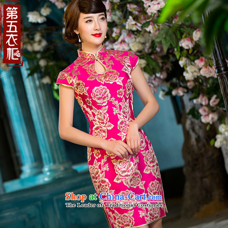 Eason Chan point qp cheongsam dress 2015 new fall short of replacing short-sleeved Chinese Antique marriages in Tang Dynasty color red?M Payment Services followed after about a week shipment