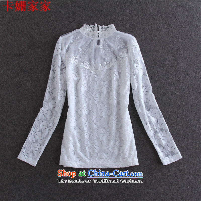 The European site autumn 50A607 new for women lace water-soluble solid black shirt spend M