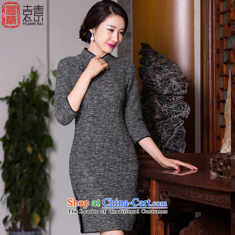 Yuan of years�autumn 2015 knitted dress qipao? gross new retro 7 cuff improved cheongsam dress qipao�QD273 Ms. stylish�picture color�M