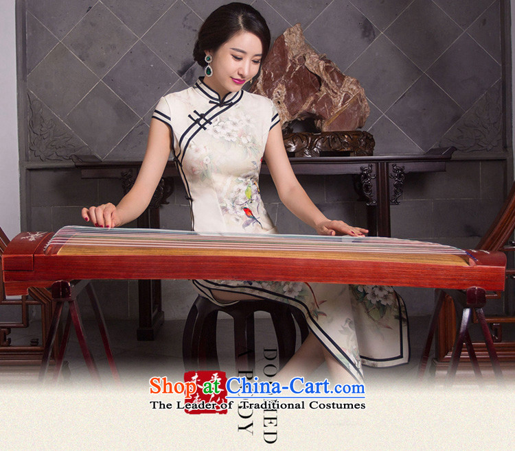 Mr Yuen Long qipao autumn whispers of replacing retro style qipao skirt New Sau San elegant qipao gown QD278 Ms. picture color pictures, prices, XL brand platters! The elections are supplied in the national character of distribution, so action, buy now enjoy more preferential! As soon as possible.