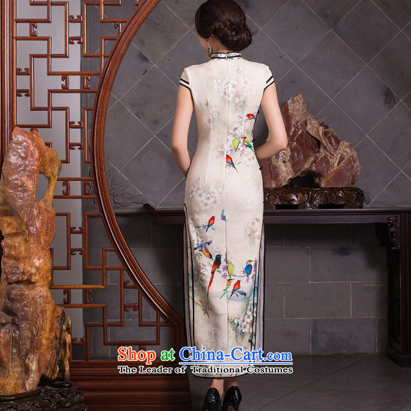 Mr Yuen Long qipao autumn whispers of replacing retro style qipao skirt New Sau San elegant qipao gown QD278 Ms. picture color pixel YUAN YUAN XL, SU) , , , shopping on the Internet
