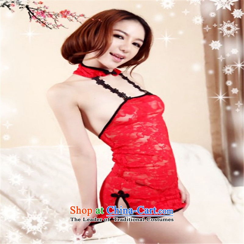Improved cheongsam dress uniform Ms. temptation qipao will show services stage costumes tight sexy back stylish nightlife cheongsam with classical China wind red