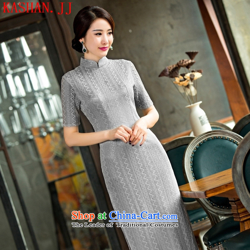 Mano-hwan's new cheongsam dress retro lace cheongsam dress video thin clothing dresses Sau San figure?XXL